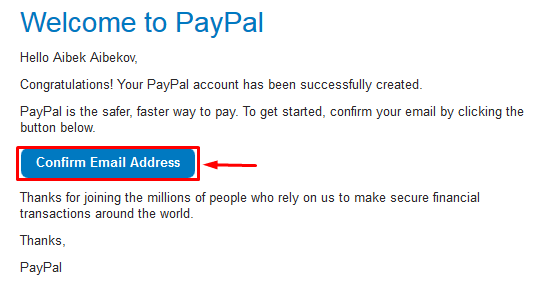 welcome to Paypal