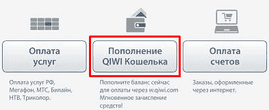 пополнение qiwi кошелька